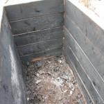 Nach dem Feuer im Holzhochbeet 2