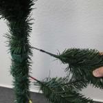 Künstlicher Weihnachtsbaum mit Hakentechnik